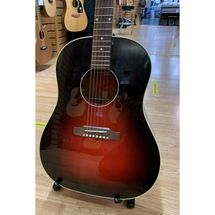 B Stock Gibson Slash J-45 Vermillion Burst Electro Acoustic Body Detail