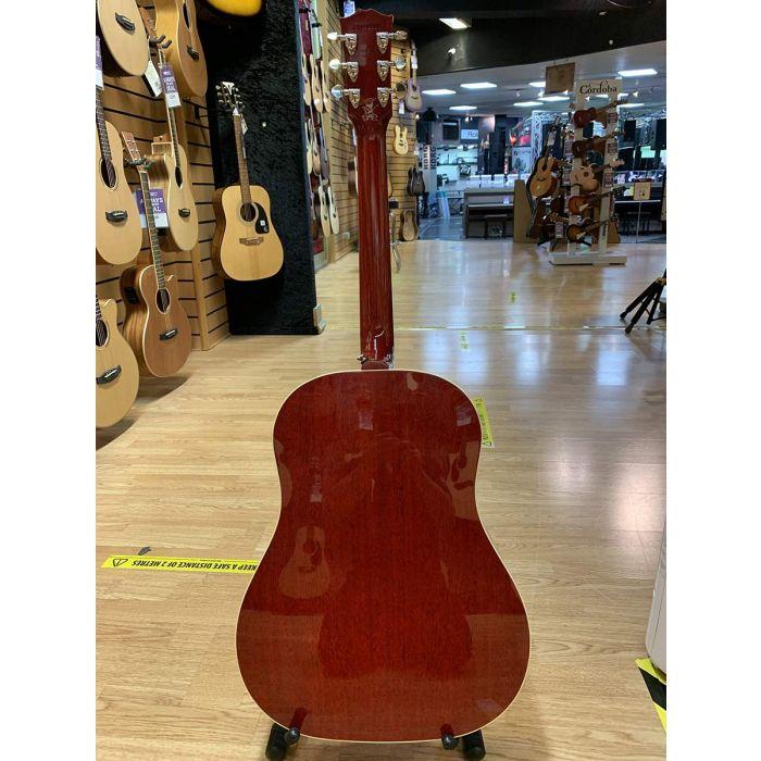 B Stock Gibson Slash J-45 Vermillion Burst Electro Acoustic Full Back Detail