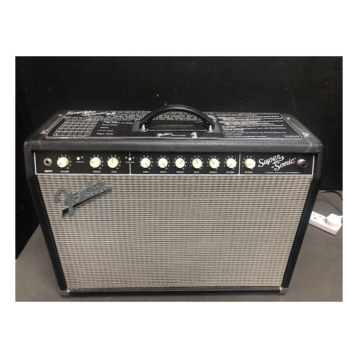 B Stock Fender Super-sonic 22 Combo Black Full Front View
