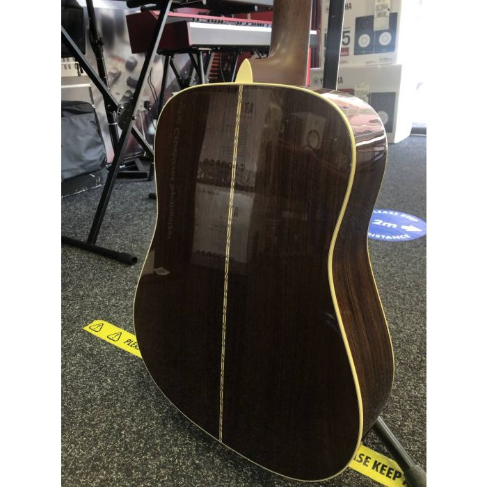 Back of B-Stock Martin D28 Re-Imagined