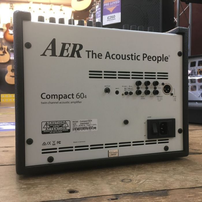 Back of B-Stock AER Compact 60 Mk4 Acoustic Amplifier