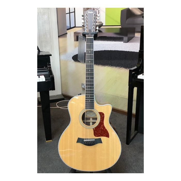 Pre-Loved Taylor 456CE-R 12 String Electro Acoustic Full Front View