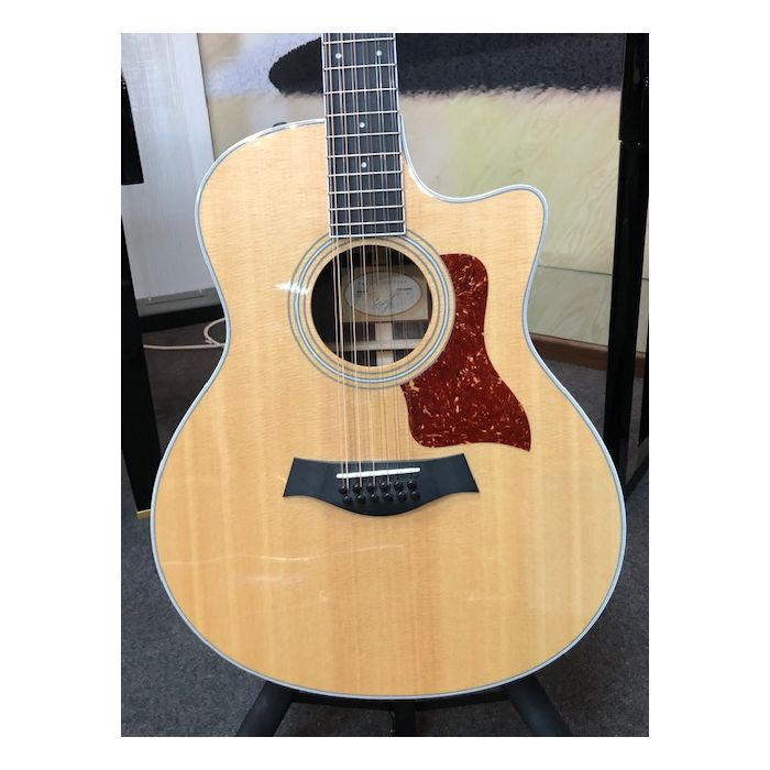 Pre-Loved Taylor 456CE-R 12 String Electro Acoustic Body Detail