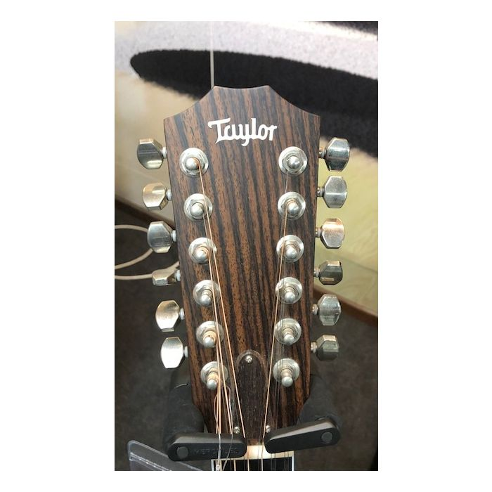 Pre-Loved Taylor 456CE-R 12 String Electro Acoustic Headstock