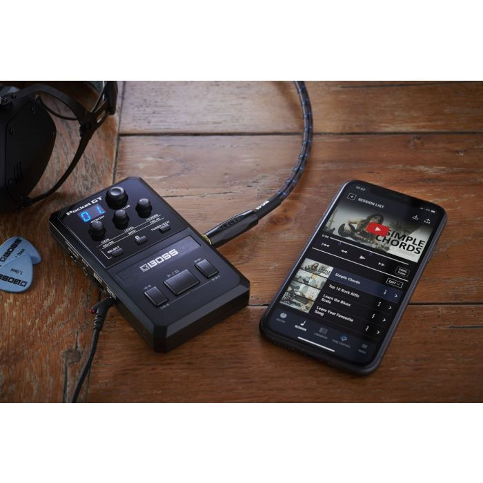 Boss Pocket GT Guitar Processor Connected to YouTube