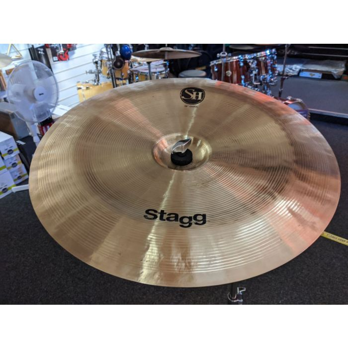 Full view of a Pre-Loved Stagg SH 18 China Cymbal