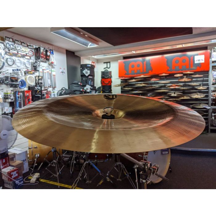 Front angled view of a Pre-Loved Stagg SH 18 China Cymbal