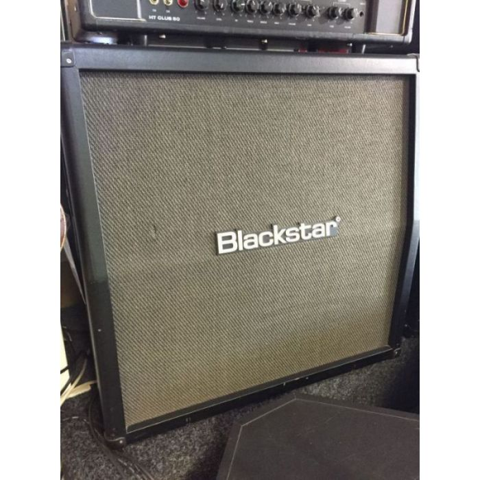 Front right angled view of a B Stock Blackstar ID412A Angled Cab