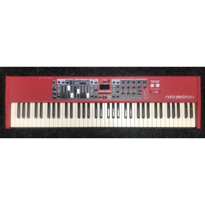 B-Stock Nord Electro 6D 73-Note Semi Weighted Keyboard Top View