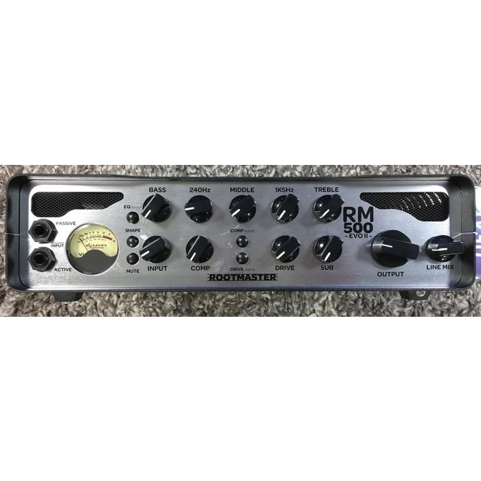 B-Stock Ashdown RM-500-EVO II 500w Bass Head Front View