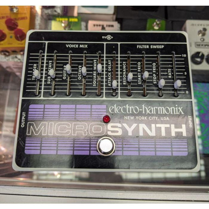 Top-down view of a Pre-Loved Electro Harmonix Micro Synth