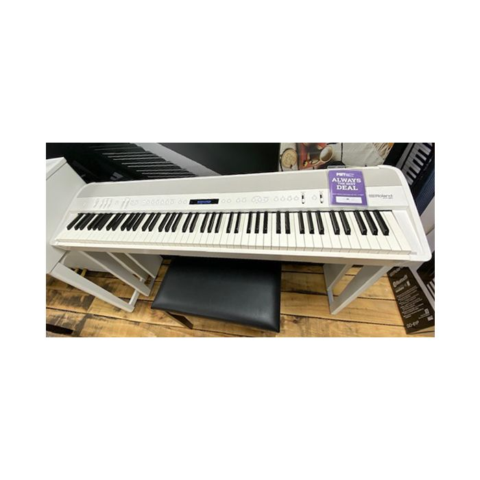 B-Stock Roland FP90 Digital Piano in White Top View