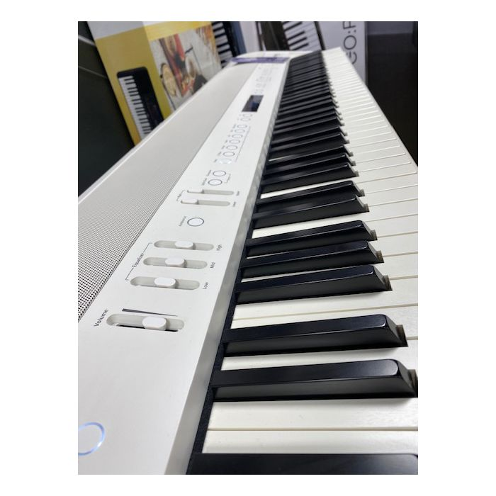 B-Stock Roland FP90 Digital Piano in White Side Keyboard View