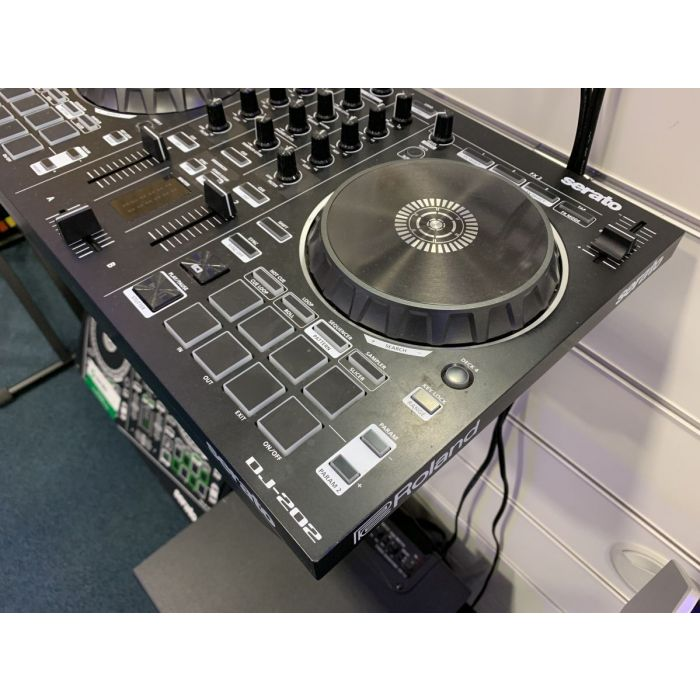 Right Angled View of B-Stock Roland DJ-202 DJ Controller