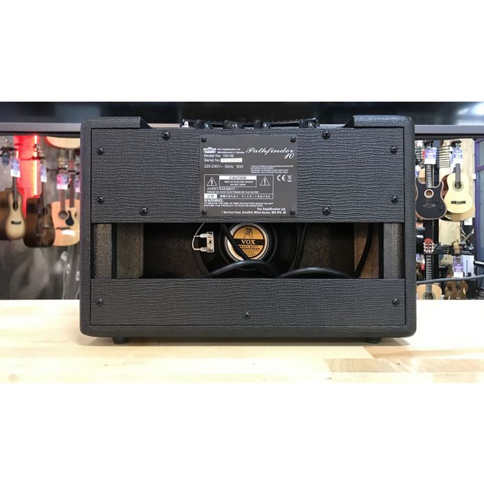 Full rear view of a B Stock Vox Pathfinder 10w Combo Amplifier