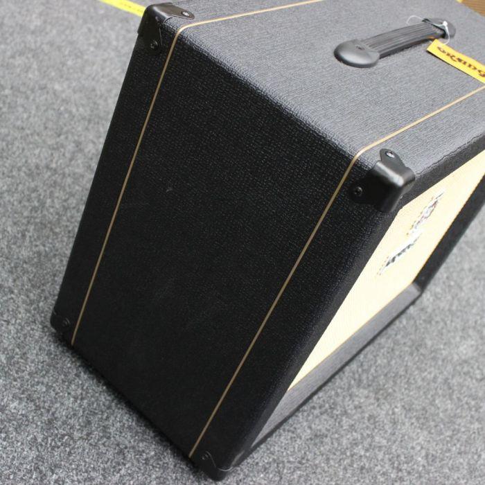Left Side of B-Stock Orange PPC112 1x12 Guitar Speaker Cabinet Black