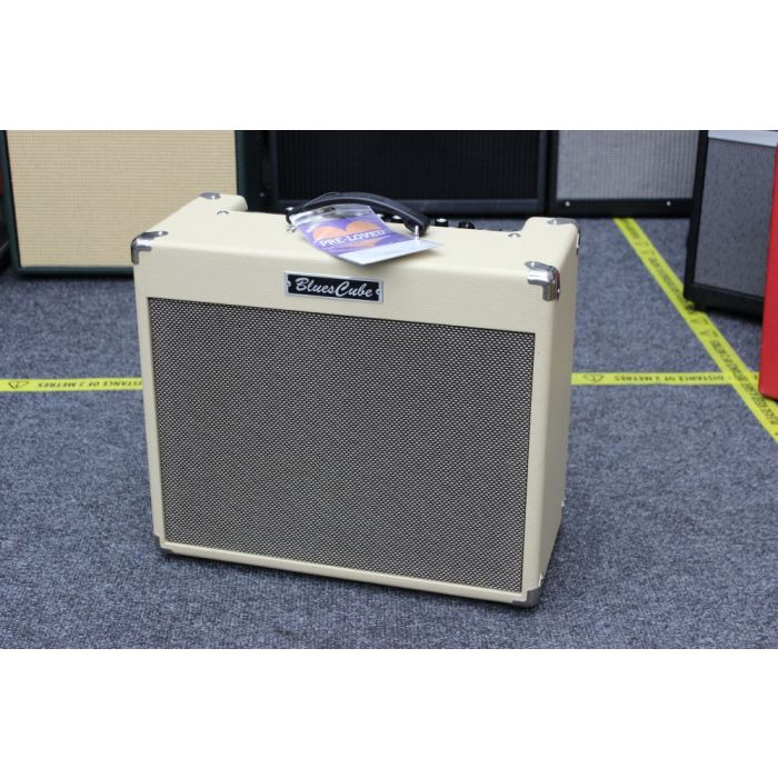Angled View of Pre-Loved Roland Blues Stage Combo Amp