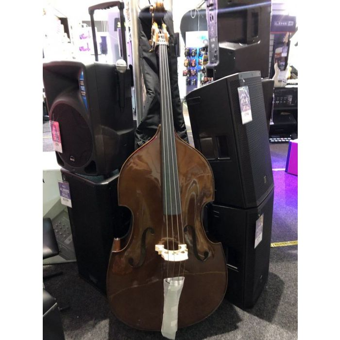 Full frontal view of a B Stock Stentor Student I Double Bass Outfit