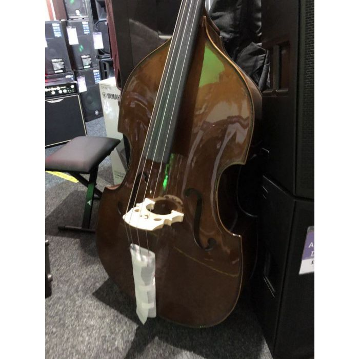 Front right-angled view of a B Stock Stentor Student I Double Bass Outfit