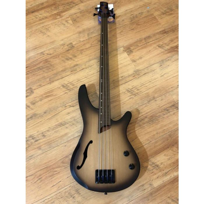Full frontal view of a Pre-Loved Ibanez SRH500F Fretless Bass