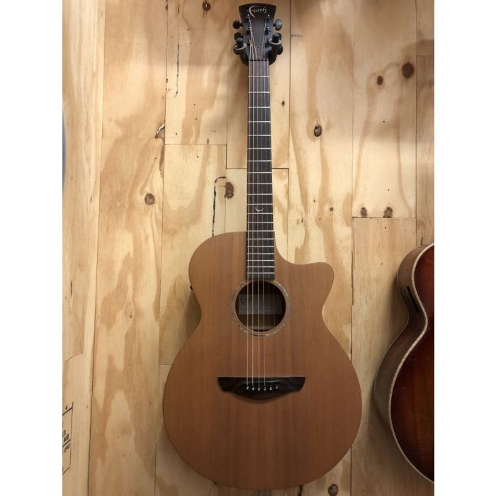 Full frontal view of a B Stock Faith FKVCD Naked Venus Cutaway Electro Acoustic