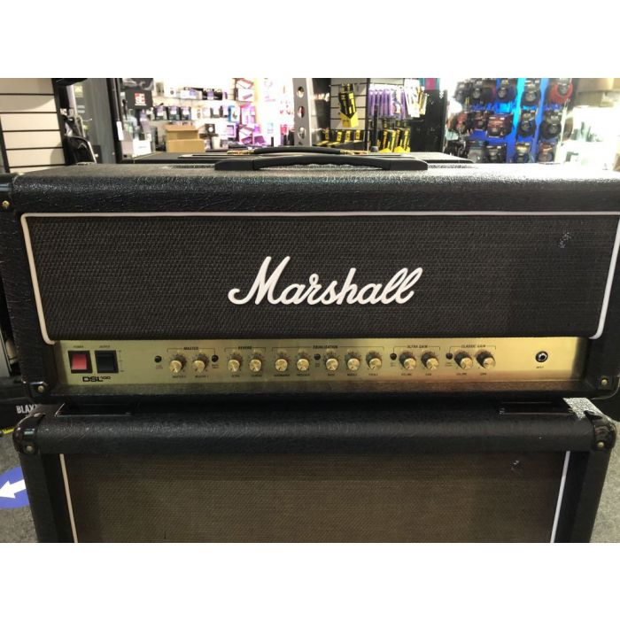 Full frontal view of a B Stock Marshall DSL100HR 100W Valve Head