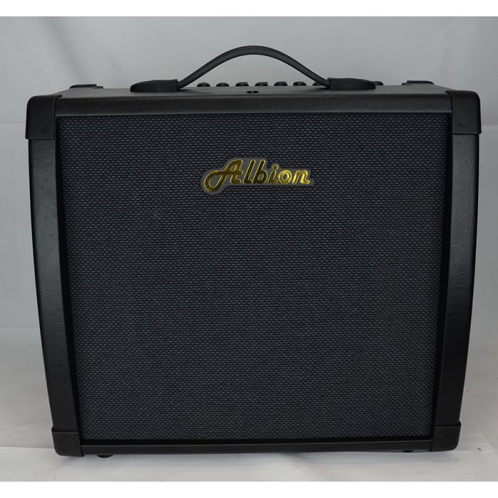 Full frontal view of a Albion AG40DFX 40W Fx Hybrid 1x12 Combo