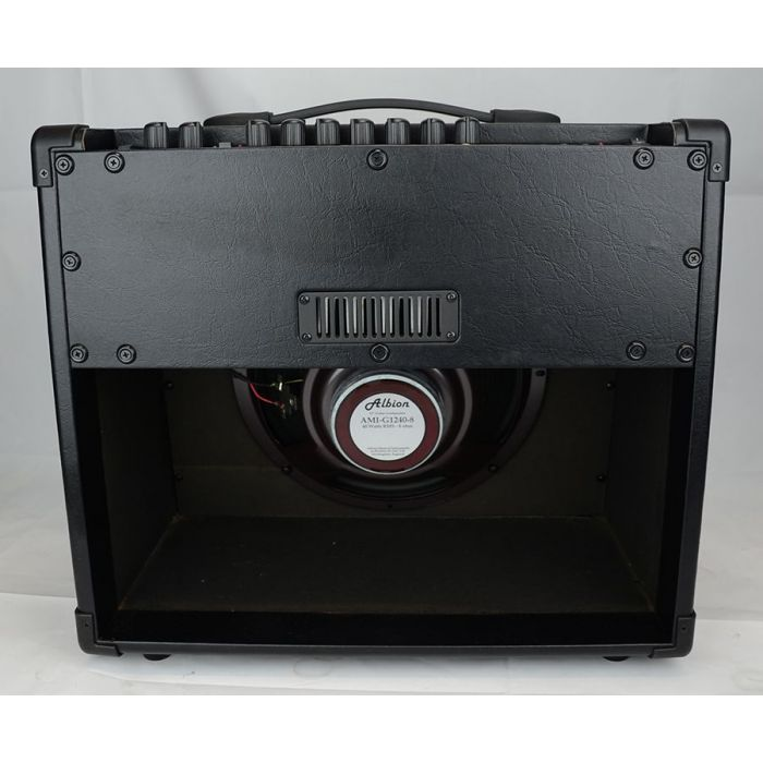 Full rear view of a Albion AG40DFX 40W Fx Hybrid 1x12 Combo