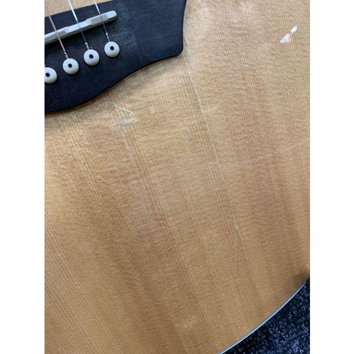 B-Stock Washburn HJ40SCE Heritage Electro Acoustic Damage Detail