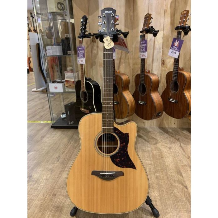 Full frontal view of a B-Stock Yamaha A1M Electro Acoustic, Natural