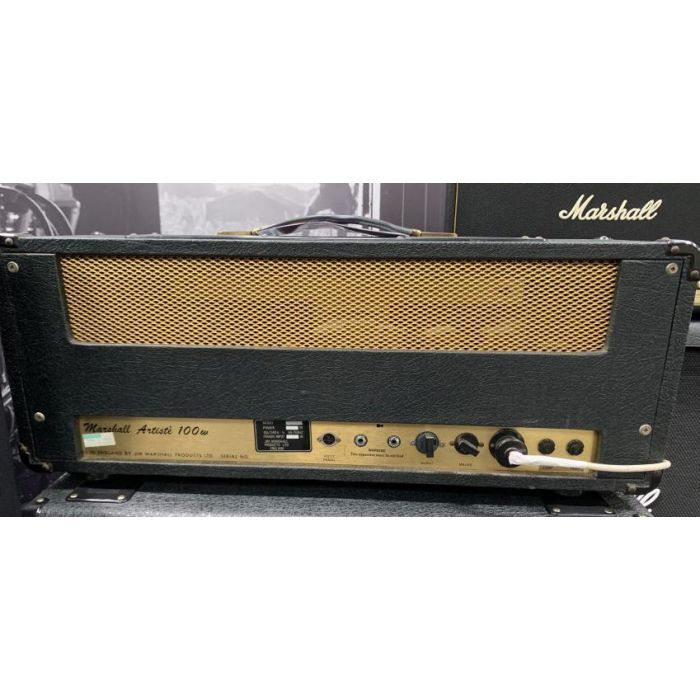Rear view of a Pre-Loved Marshall 1976 Artiste 100w Amp Head