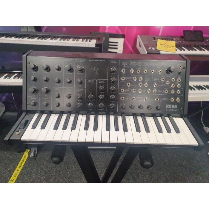 Full frontal view of a B Stock Korg MS-20 Mini Monophonic Synthesizer
