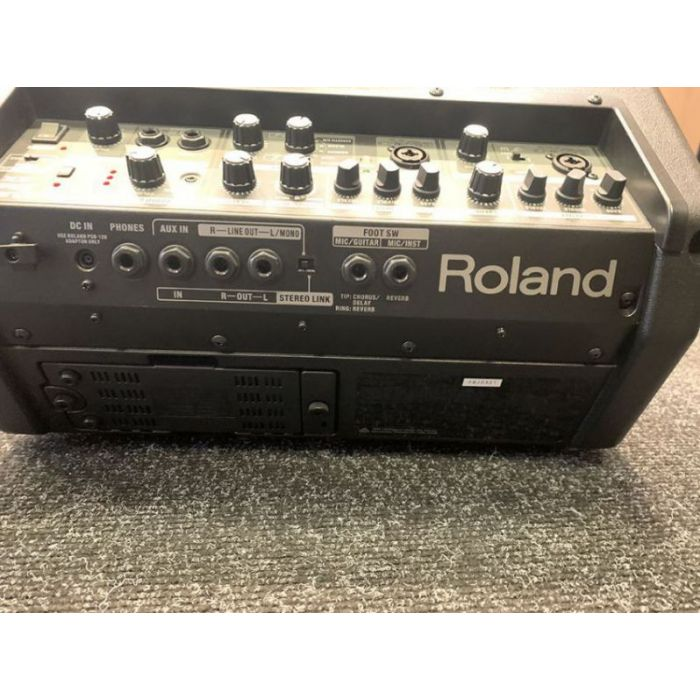 Rear panel view of a B-Stock Roland Cube-Street EX Battery-Powered Stereo Amplifier