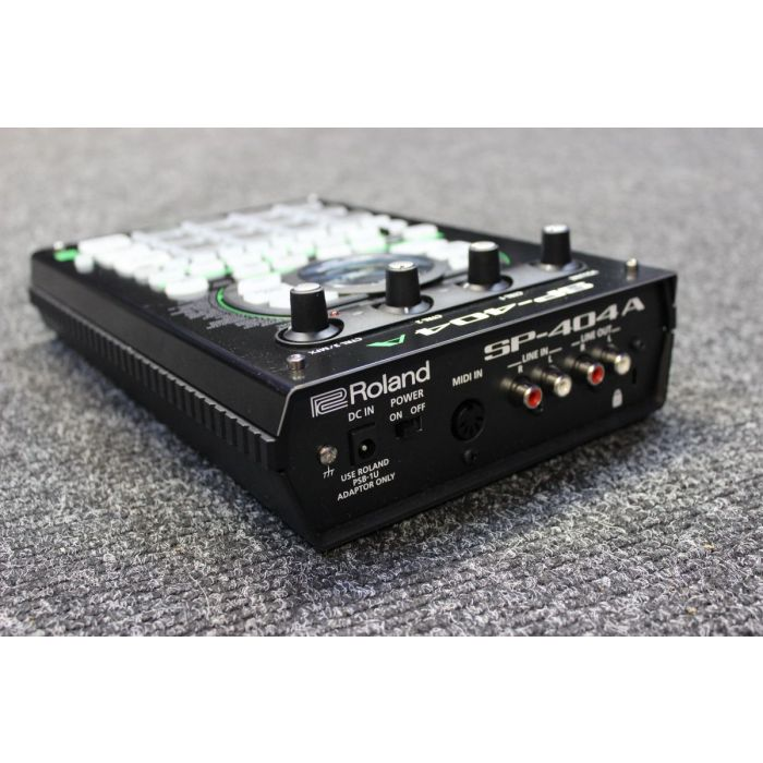 Rear View of B-Stock Roland SP-404A Linear Wave Sampler