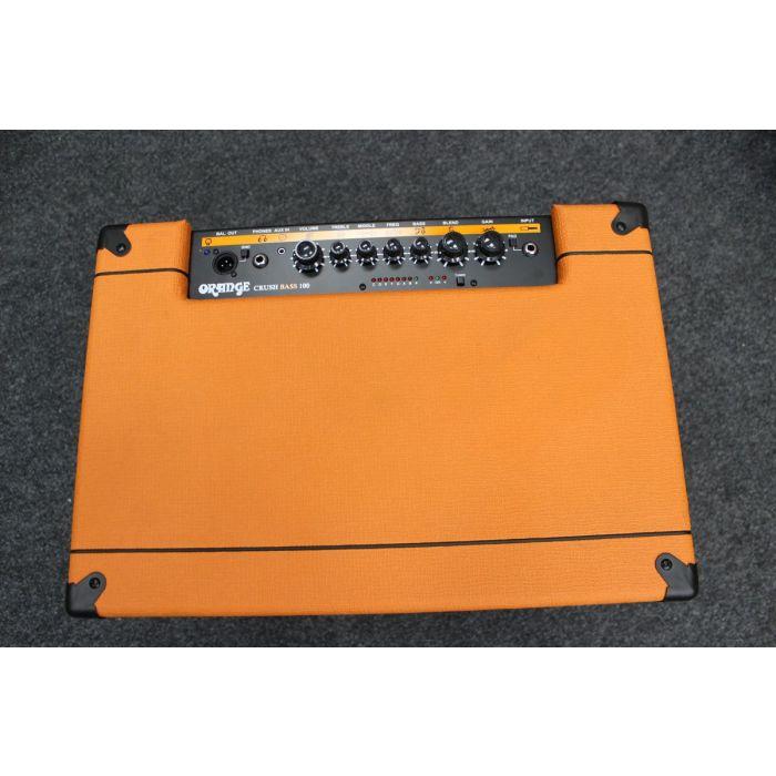 Top View of B-Stock Orange Crush Bass 100 Bass Amp
