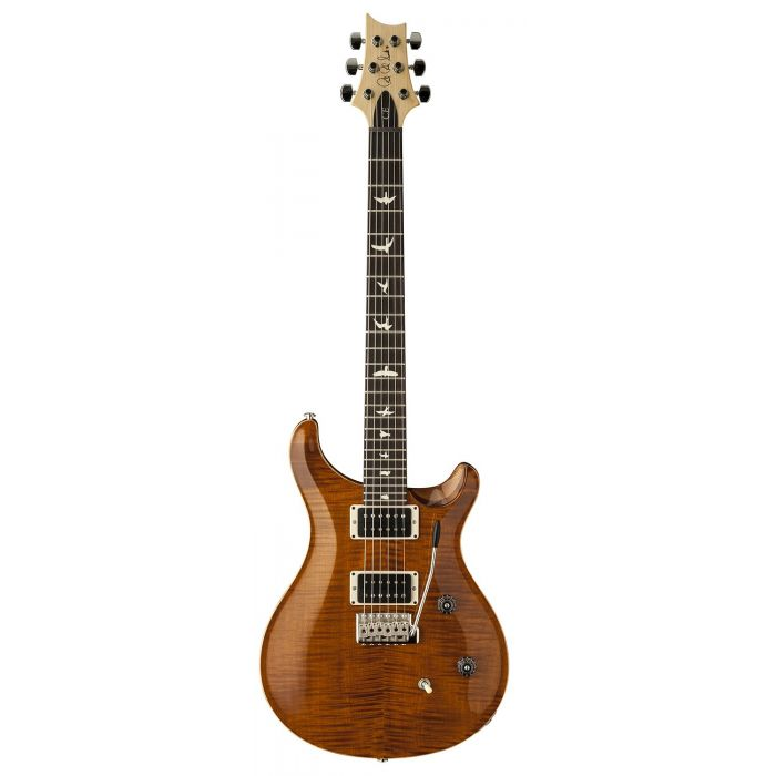 Full frontal view of a PRS CE24 Electric Guitar in Amber