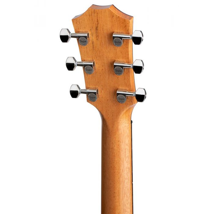 Detailed view of the tuning machines on a Taylor GT Urban Ash Acoustic Guitar