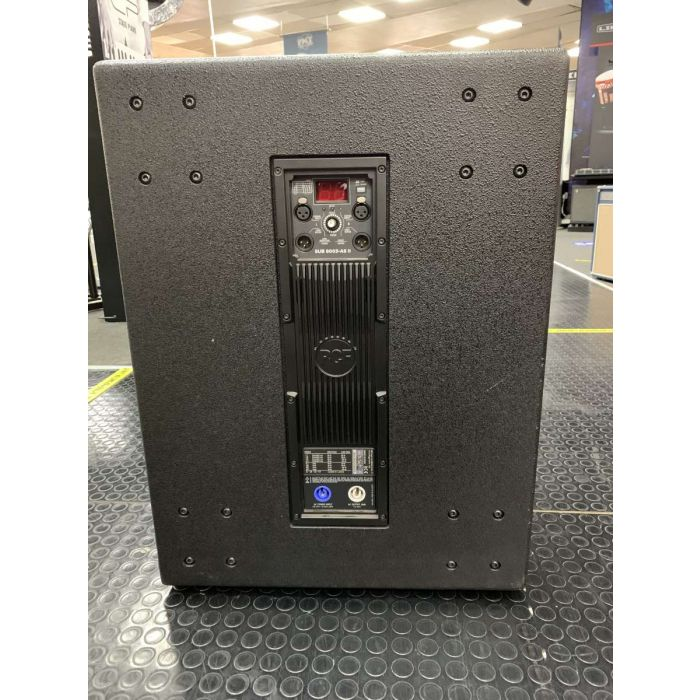 Back of B-Stock RCF SUB 8003-AS II Active Subwoofer