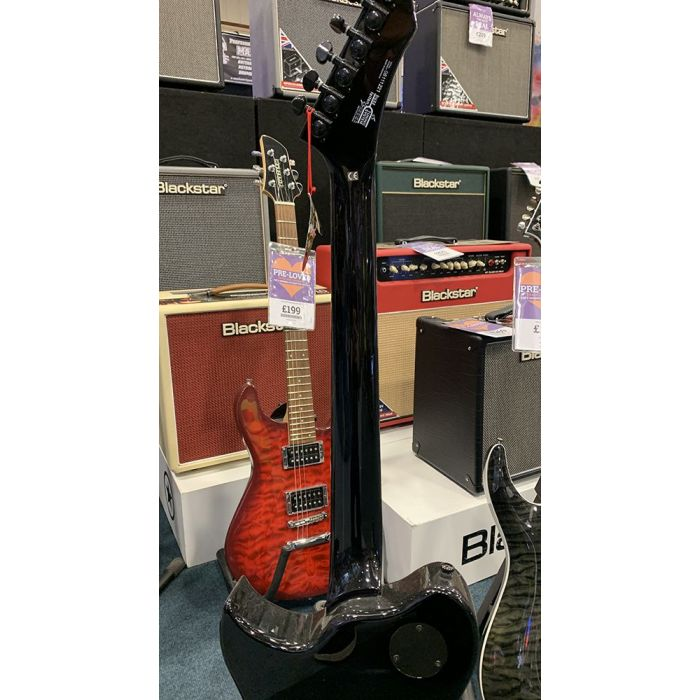 B Stock Washburn PXS100 Parallaxe Series Electric Guitar Neck Back View