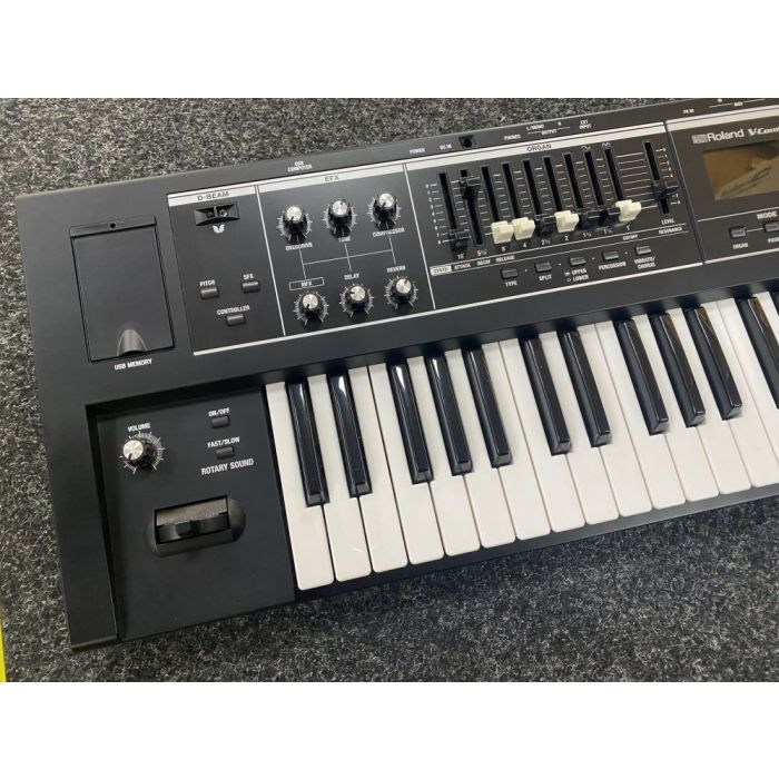 Left Side of B-Stock Roland V-Combo VR-09-B Live Performance Keyboard