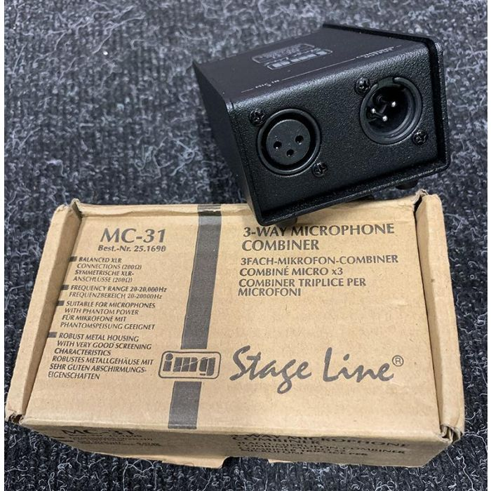 Pre-Loved IMG Stageline MC-31 Microphone Combiner Front