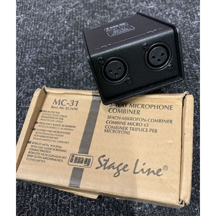 Pre-Loved IMG Stageline MC-31 Microphone Combiner Back