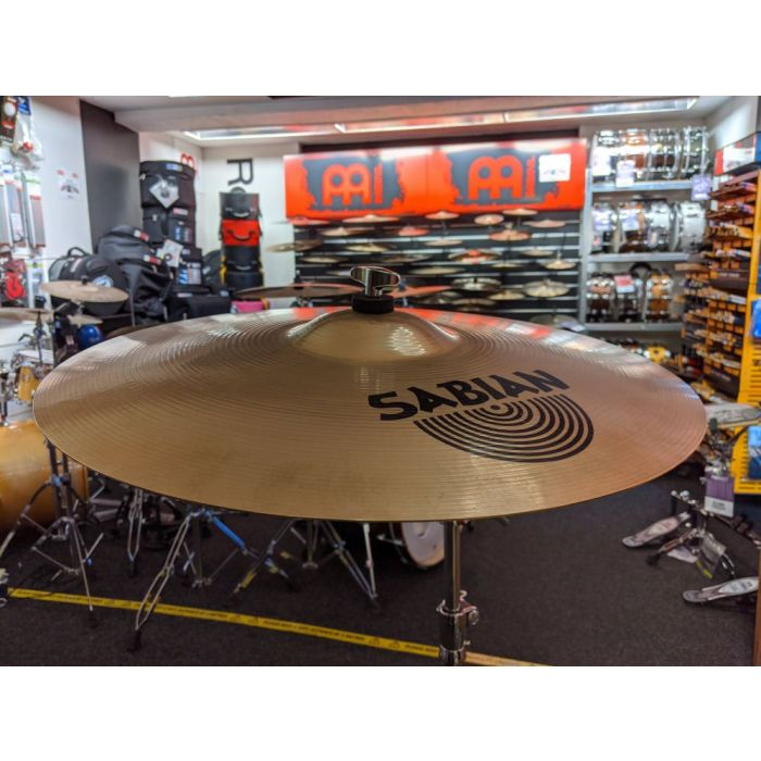 Angled View of Pre-Loved Sabian AA 20in Rock Crash Cymbal