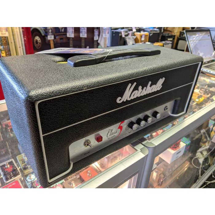Angled View of Pre-Loved Marshall Class 5 Guitar Amplifier Head
