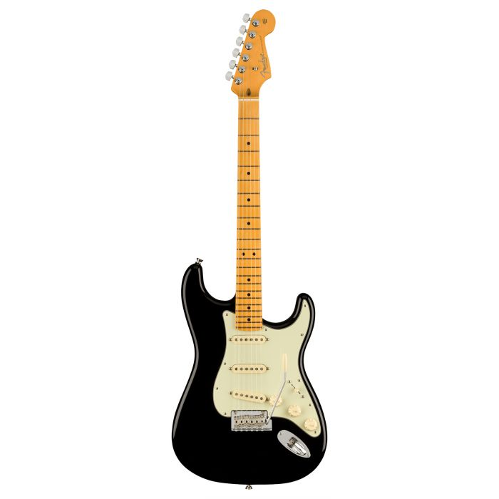 Full frontal view of a Fender American Professional II Stratocaster MN, Black