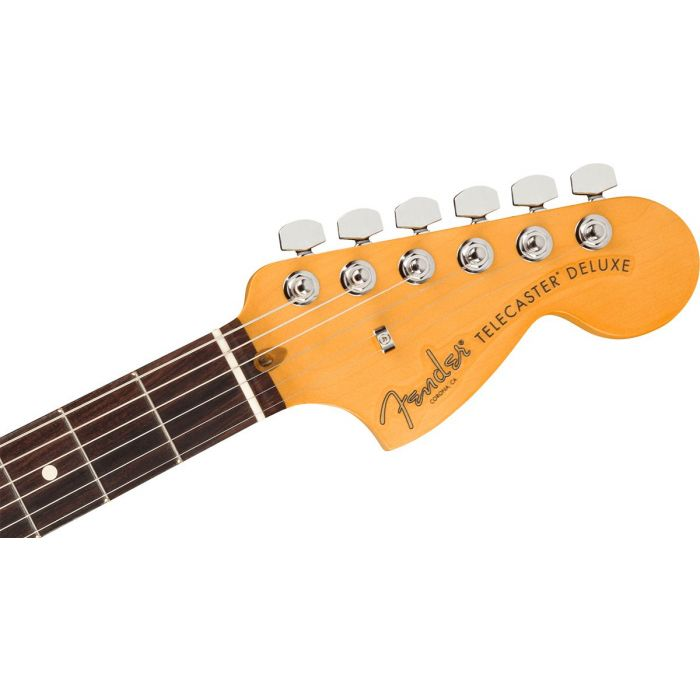 Front view of the headstock on a Fender American Professional II Telecaster RW, Deluxe Mercury