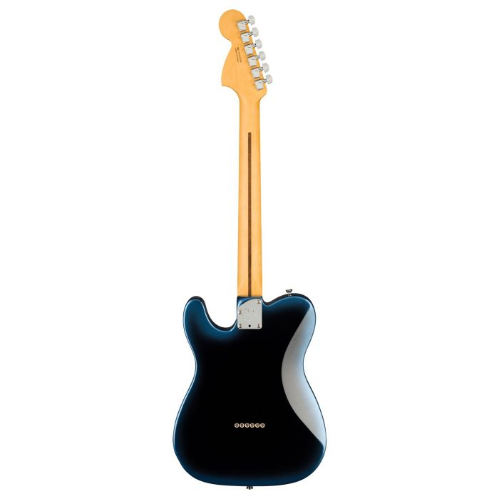 Full rear view of a Fender American Professional II Telecaster Deluxe RW, Dark Night
