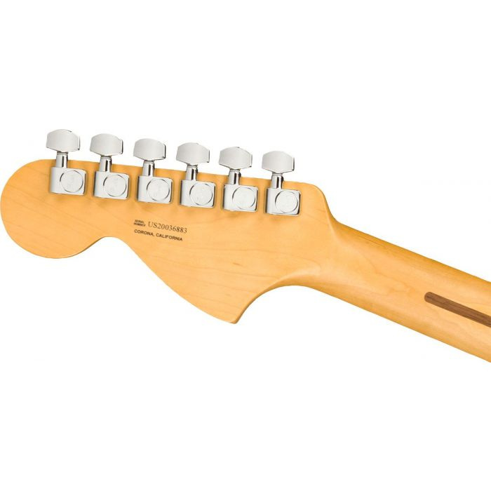 Rear view of the headstock on a Fender American Professional II Telecaster Deluxe MN, Olympic White