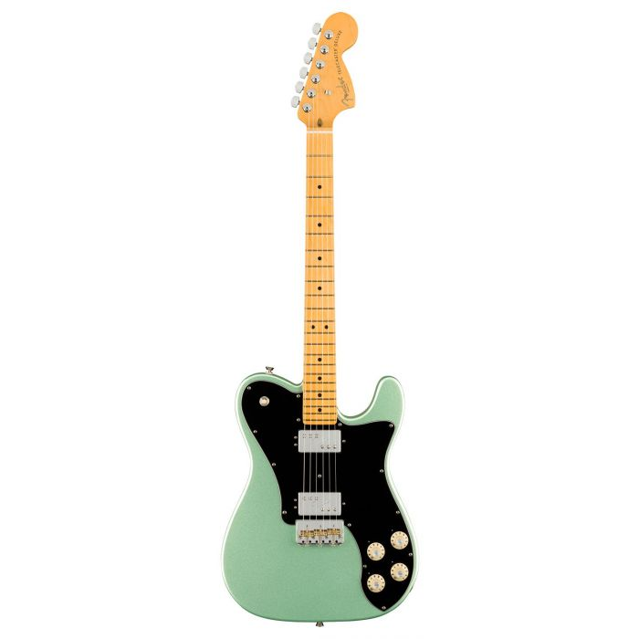 Full frontal view of a Fender American Professional II Telecaster Deluxe, Mystic Surf Green