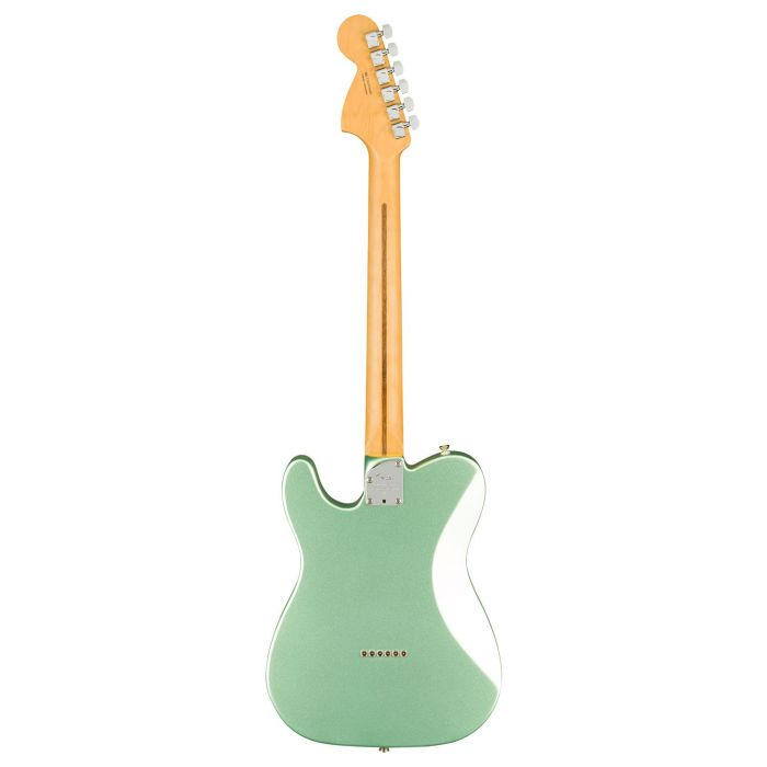 Full rear view of a Fender American Professional II Telecaster Deluxe, Mystic Surf Green